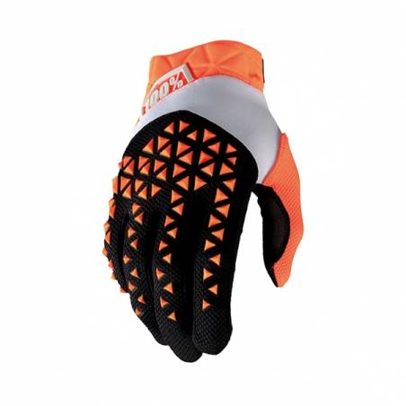463062M GUANTI 100% AIRMATIC ORANGE/BLACK (M)  100%