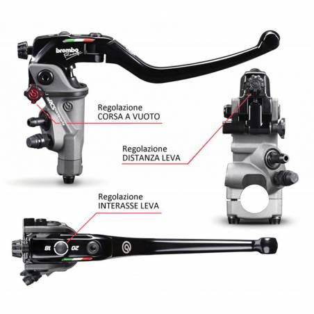110C74010 Pompa Freno Radiale Anteriore Brembo Racing 19RCS Corsa Corta VOXAN SCRAMBLER 1000