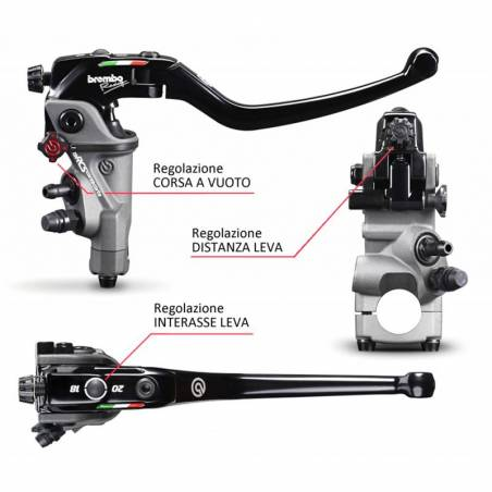 110C74010 Pompa Freno Radiale Anteriore Brembo Racing 19RCS Corsa Corta YAMAHA V-MAX 1700 2009-2016