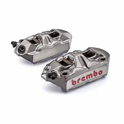 220988530 Kit 2 M4 Brembo Racing Radial Brake Calipers + 4 Wheelbase Pads 100 mm APRILIA TUONO V4 R