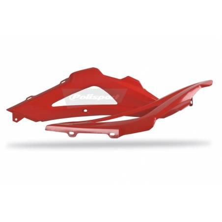 Parte superiore convogliatori radiatori HUSQVARNA 250 TC 2008-2009 Rosso