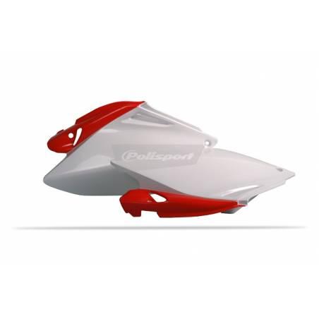 Portanumeri laterali HONDA CRF 250 R 2006-2009 Rosso cr04/Bianco