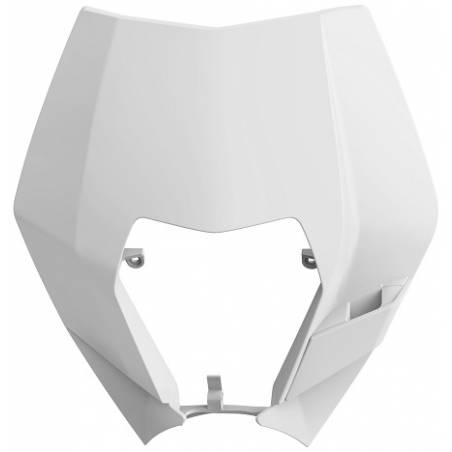 Mascherina portafaro KTM 125 EXC 2008-2013 Bianco