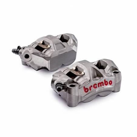 220A88510 Kit 2 M50 Brembo Racing Radial Brake Calipers + 4 Pads Wheelbase 100 mm TRIUMPH DAYTONA R