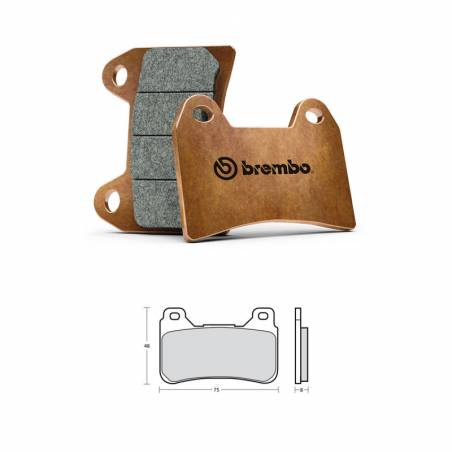 M488Z04 Brembo Racing Z04 - HONDA CBR RR ABS 600 2009-2016 - Brake pads M488Z04 107A48648  Brembo