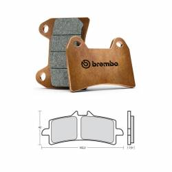 M497Z04 Brembo Racing Z04 - TRIUMPH SPEED TRIPLE S ABS 1050 2017 - Brake pads M497Z04 107A48639