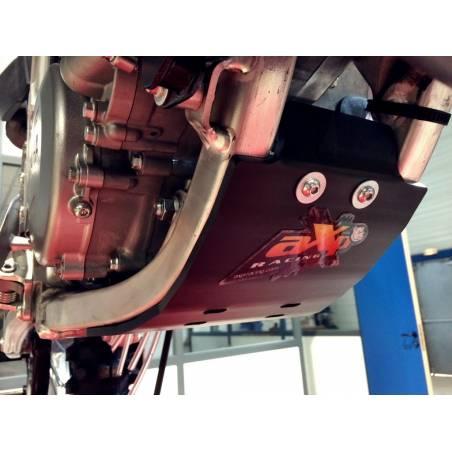 AX1348 Skid plate 6mm Cross AXP RACING YAMAHA YZ 125 2005-2019 Black  AXP Racing