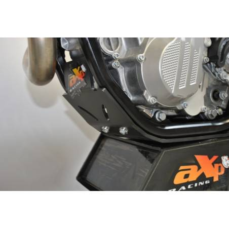 AX1372 placa Skid 6mm Cross AXP RACING KTM 450 SX F 2016-2019 Negro