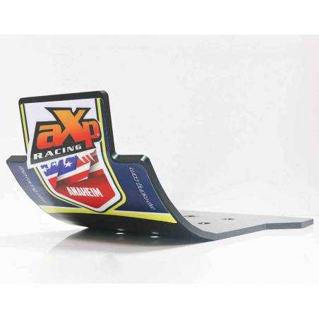 AX1379 Skid plate 6mm Cross AXP RACING Husqvarna TC 125 2016-2019 Black  AXP Racing