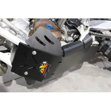 AX1425 Skid plate Xtrem AXP 8mm with linkage Protection HUSQVARNA 350 FE 2017-2020 Black  AXP Racing