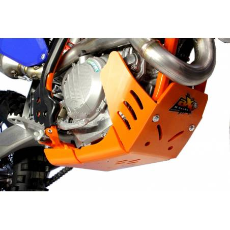 AX1483 Skid plate Xtrem AXP 8mm with linkage Protection KTM 500 EXC 2017-2020 Orange  AXP Racing