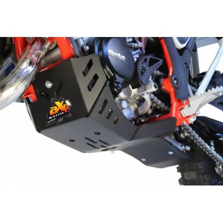 AX1488 Skid plate Xtrem AXP 8mm protected linkages BETA RR 125 2T 2018-2019 Black  AXP Racing