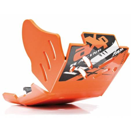 AX1494 Skid plate Xtrem AXP 8mm with linkage Protection KTM 250 EXC F 2017-2020 Orange  AXP Racing