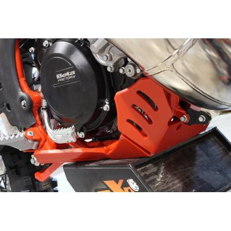 AX1527 Skid plate Xtrem AXP 8mm with linkage Protection BETA RR 250 2018-2019 Red  AXP Racing