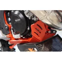 AX1527 Piastra paramotore Xtrem AXP 8mm con protezione leverismi BETA RR 300 2018-2019 Rosso  AXP