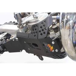 AX1534 Skid plate Xtrem AXP 8mm with protection linkages TM EN 250 2011-2018 Black  AXP Racing