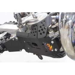 AX1534 Piastra paramotore Xtrem AXP 8mm con protezione leverismi TM EN 300 2011-2018 Nero  AXP