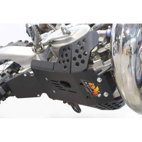 AX1534 Skid plate Xtrem AXP 8mm with protection linkages TM EN 300 2011-2018 Black  AXP Racing