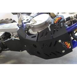 AX1536 Piastra paramotore Xtrem AXP 8mm con protezione leverismi SHERCO 250 SEF-R 2019-2020 Nero