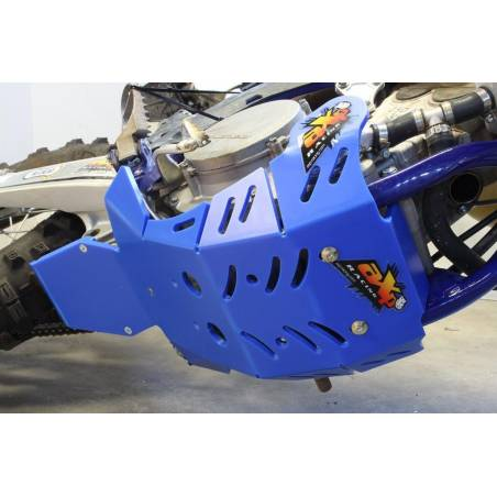AX1537 Skid plate Xtrem AXP 8mm with linkages protection SHERCO 250 SEF-R 2019-2020 Blue  AXP Racing