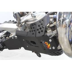 AX1539 Skid plate Xtrem AXP 8mm with protection linkages TM EN 300 2019-2019 Black  AXP Racing