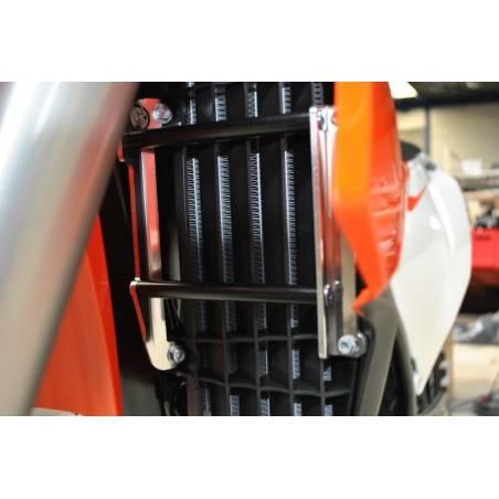 AX1449 Protecciones radiadores AXP HUSQVARNA 450 FE 2018-2020 Negro