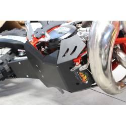 AX1461 Skid plate Xtrem AXP 8mm protected linkages BETA RR 250 2018-2019 Black  AXP Racing