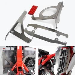 AX1552 Protezioni radiatori AXP BETA RR 250 2020-2020 Rosso  AXP Racing