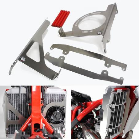 AX1552 Protections radiators AXP BETA RR 250 2020-2020 Red  AXP Racing