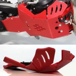 AX1563 Piastra paramotore Xtrem AXP 8mm con protezione leverismi BETA RR 125 2020-2020 Rosso  AXP