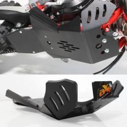 AX1562 Piastra paramotore Xtrem AXP 8mm con protezione leverismi BETA RR 125 2020-2020 Nero  AXP