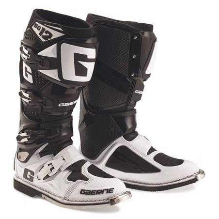 GAERNE SG-12 BLACK WHITE STIVALE MX CROSS / ENDURO