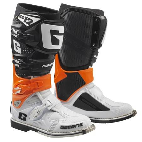 GAERNE SG-12 ORANGE/BLACK/WHITE STIVALE MX CROSS / ENDURO