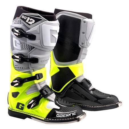 GAERNE SG-12 GREY/YELLOW FLUO/BLACK STIVALE MX CROSS / ENDURO