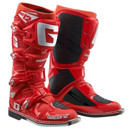 GAERNE SG-12 SOLID RED STIVALE MX CROSS / ENDURO