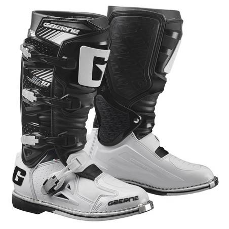 GAERNE SG-10 BLACK/WHITE STIVALE MX CROSS / ENDURO