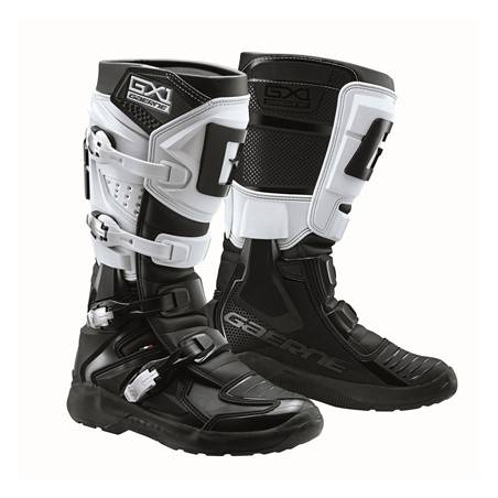 GAERNE GX-1 EVO BLACK/WHITE STIVALE MX CROSS / ENDURO