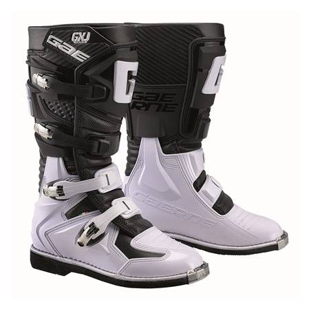 GAERNE GX-J BLACK/WHITE STIVALE MX CROSS / ENDURO