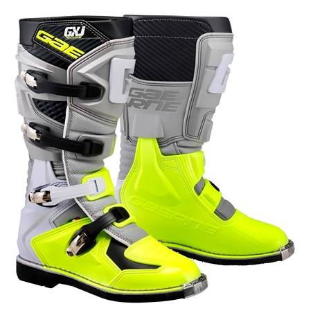 GAERNE GX-J GREY/YELLOW FLUO STIVALE MX CROSS / ENDURO
