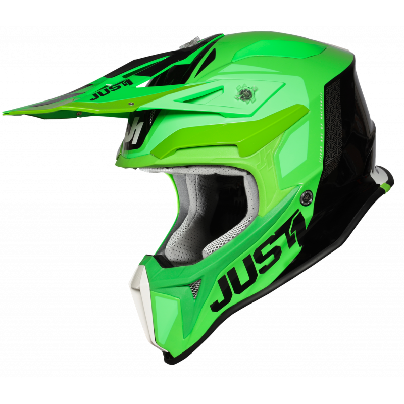 JUST1 J18 PULSAR FLUO GREEN-TITANIUM-BLACK - Gloss XS
