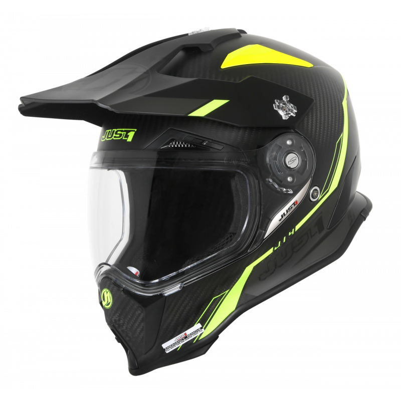 JUST1 J14 LINE FLUO YELLOW/ CARBON LOOK XXL
