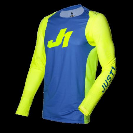695001001200106 JUST1 Maglia J-FLEX Aria Blue - Fluo Yellow XL 8053288717674 JUST 1