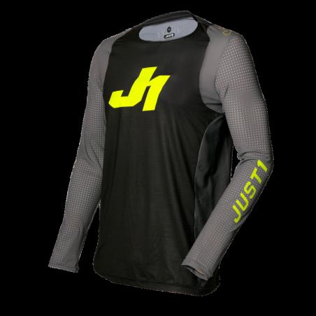 695001003100103 JUST1 Maglia J-FLEX Aria Dark Grey - Fluo Yellow S 8053288717742 JUST 1