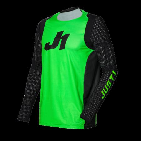 695001004500102 JUST1 Maglia J-FLEX Aria Fluo Green - Black XS 8050038567787 JUST 1
