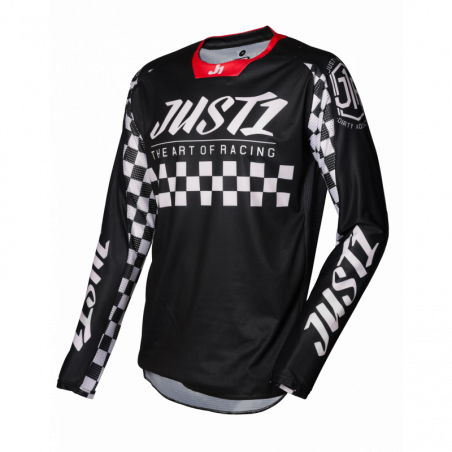 695002000100203 JUST1 Maglia J-FORCE Racer Black - White S 8053288718848 JUST 1