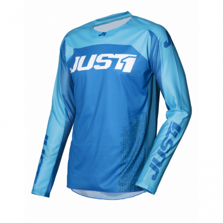 695002001100103 JUST1 Maglia J-FORCE Terra Blue - White S 8053288718541 JUST 1