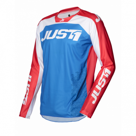 695002001200104 JUST1 Maglia J-FORCE Terra Blue - Red - White M 8053288718503 JUST 1