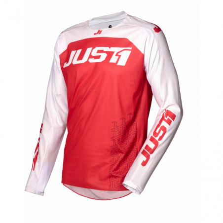 695002007100104 JUST1 Maglia J-FORCE Terra Red - White M 8053288718756 JUST 1