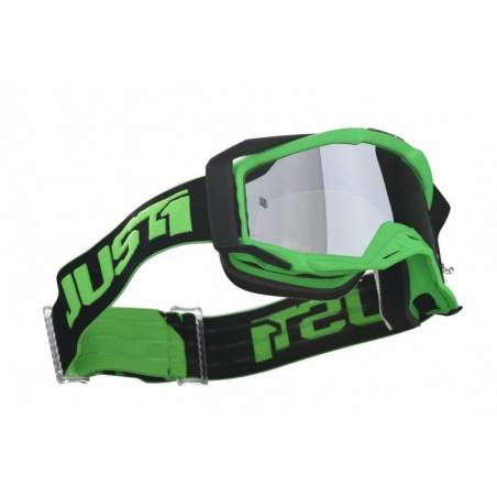 698001004201501 JUST1 Maschera IRIS TRACK BLACK-GREEN TU 8055186422797 JUST 1
