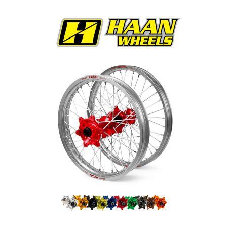 Ruota completa HAAN WHEELS KTM 530 EXC 2008-2011 cerchio: Argento 18''